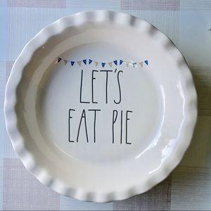 Rae Dunn Pie Plate Lets Eat Pie